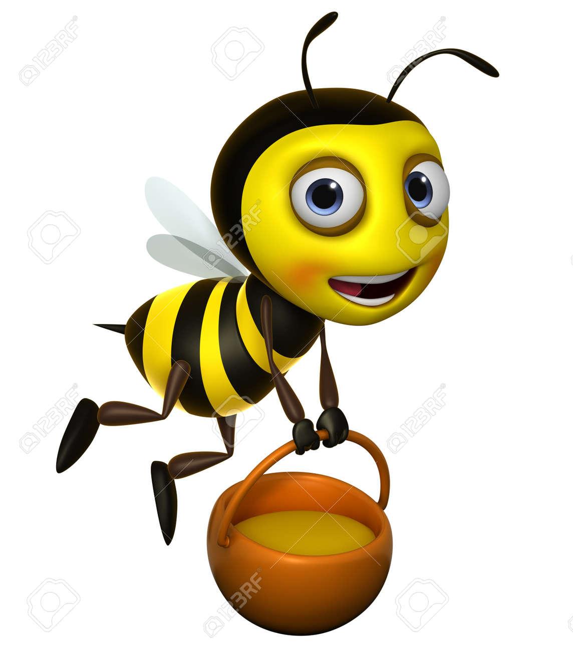 3d cute honey bee  car...
