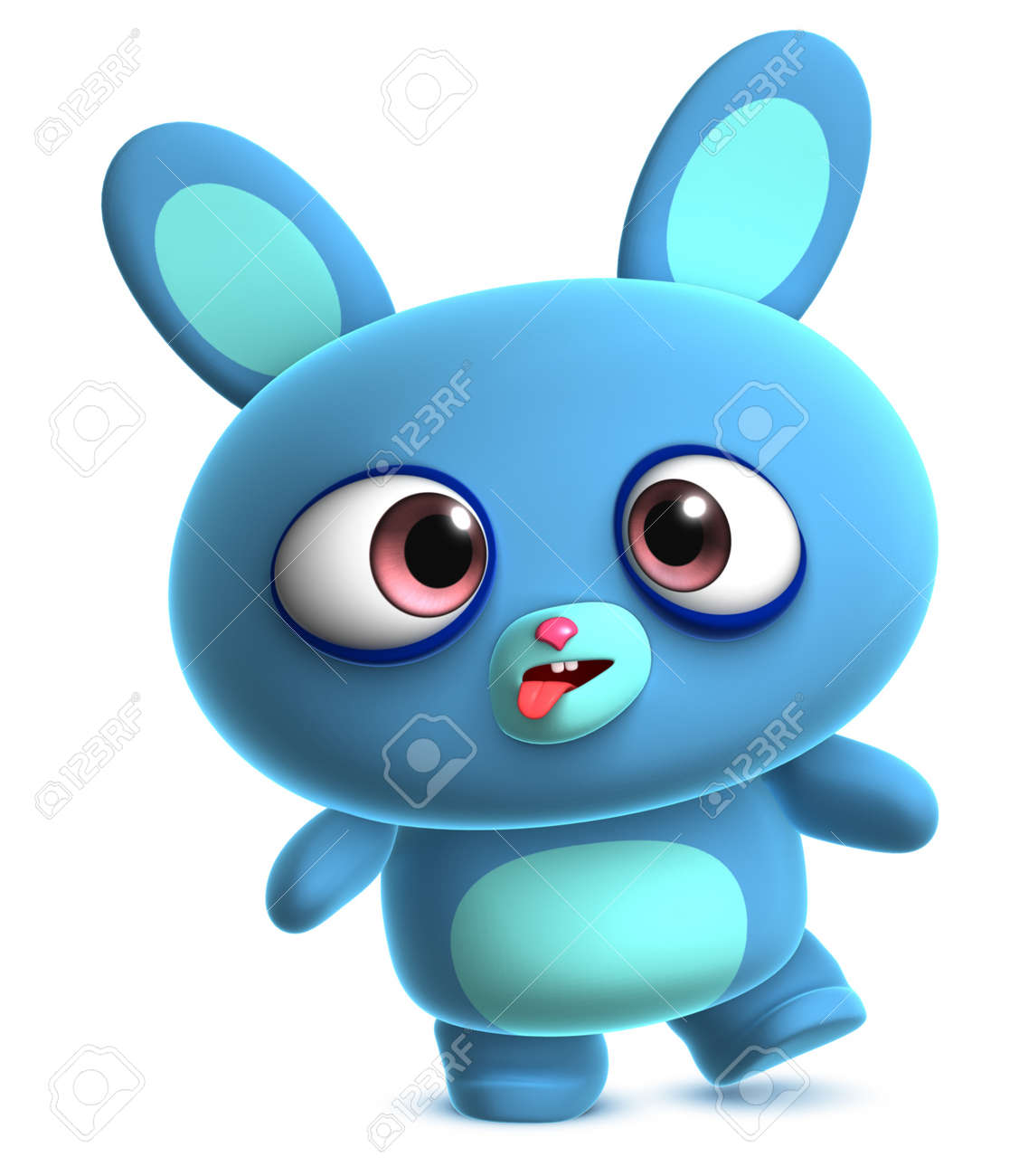 cute blue bunny Stock Photo - 15612095