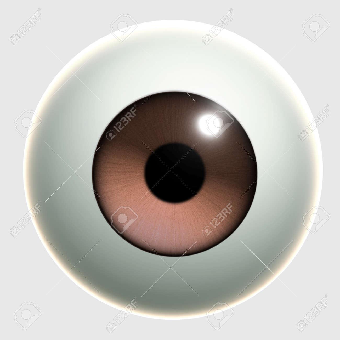 3d cartoon eye - 15612081