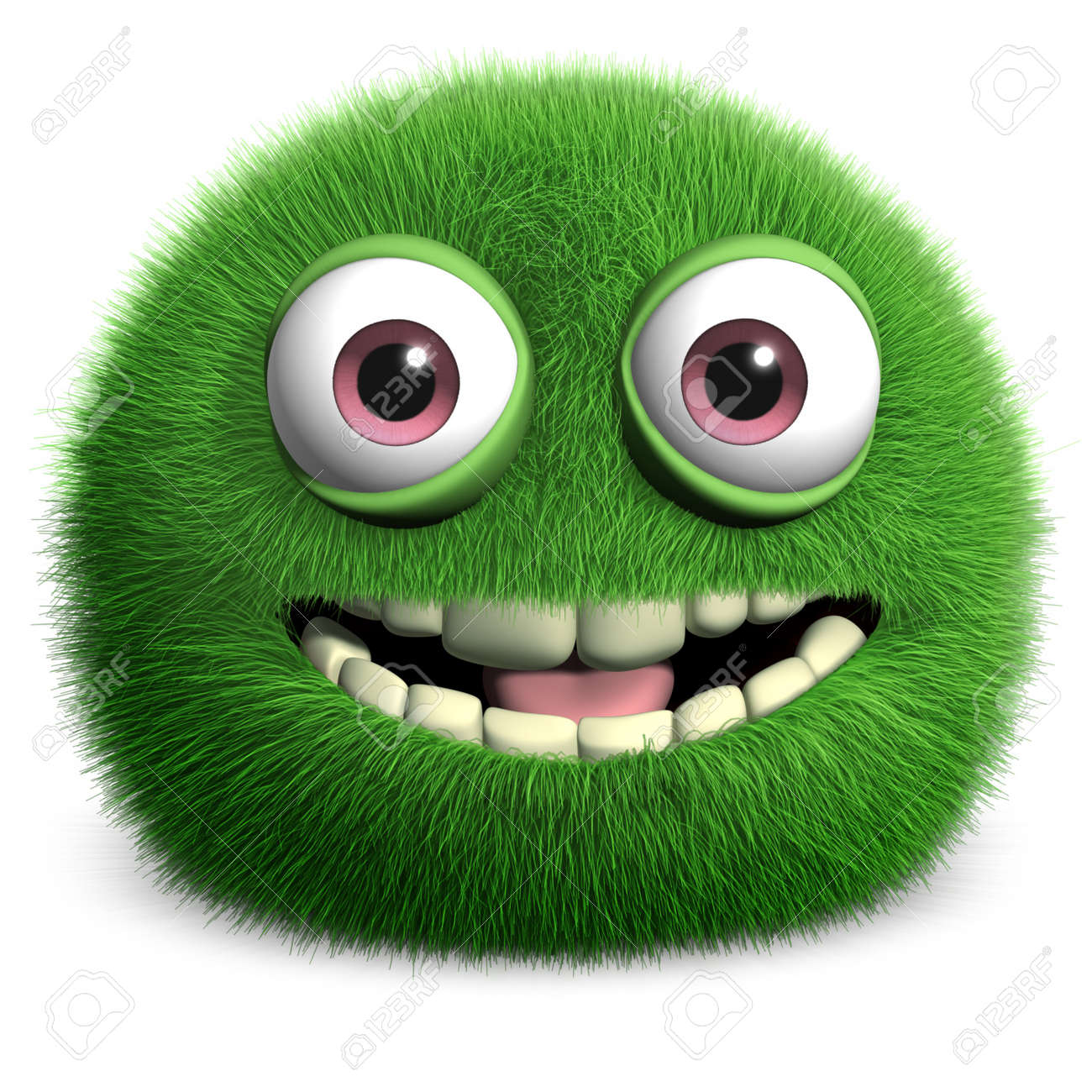 furry green monster Stock Photo - 15613754