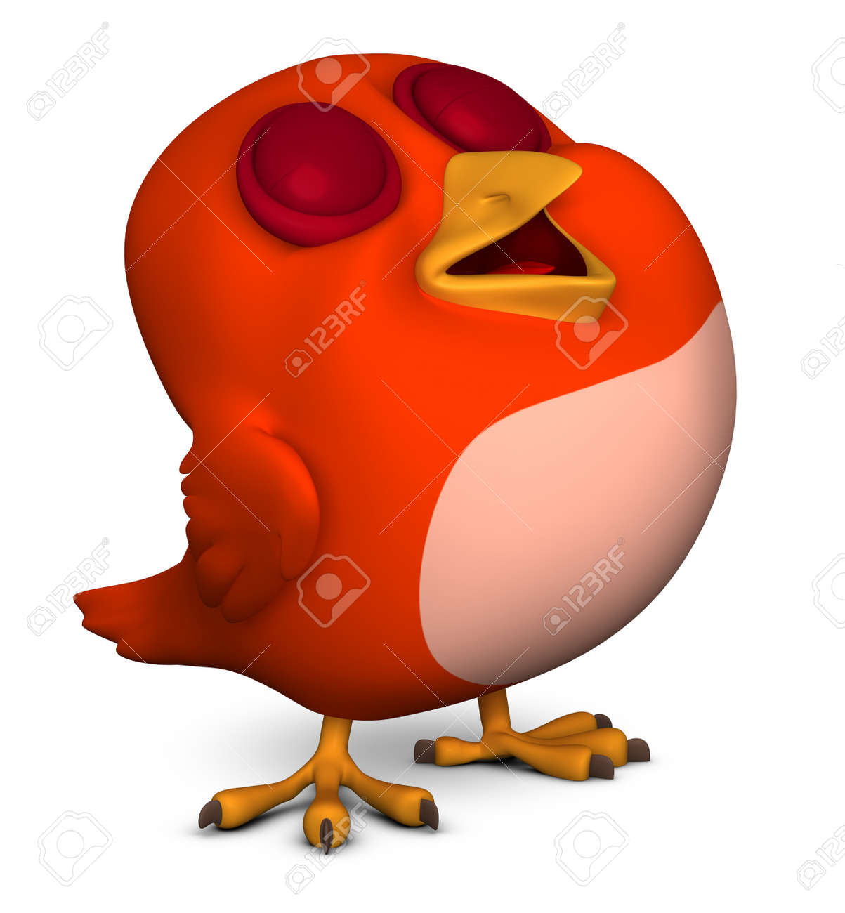 3d Cute Red Bird Stock Photo Picture And Royalty Free Image Image