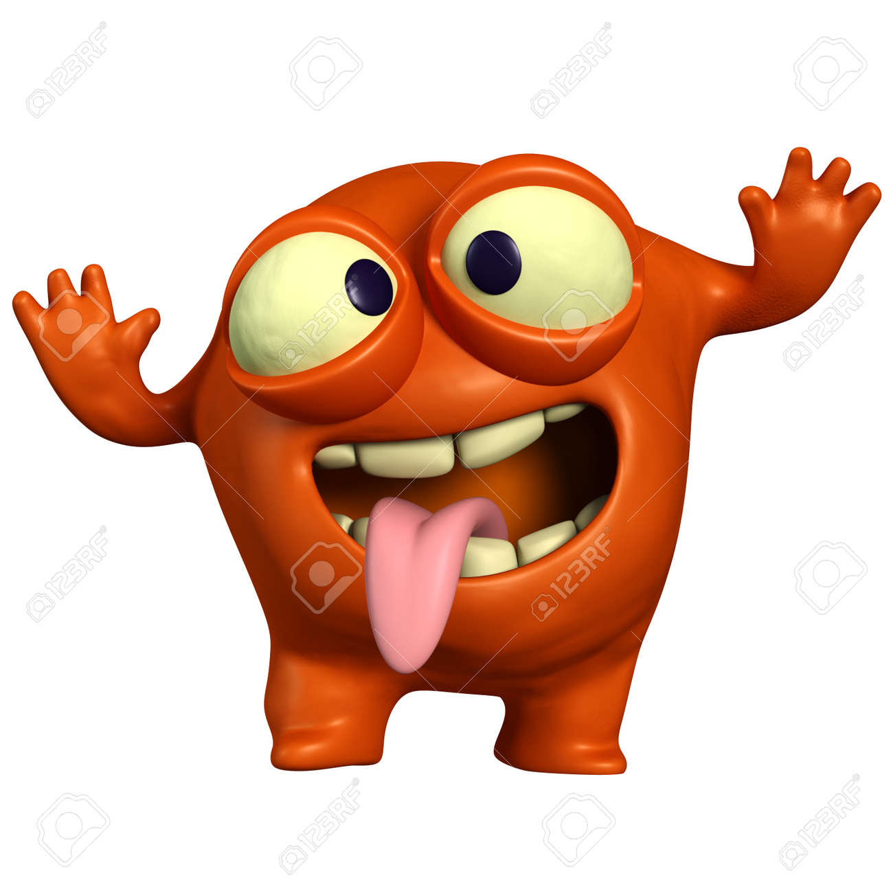 D cartoon crazy monster stock photo picture and royalty free