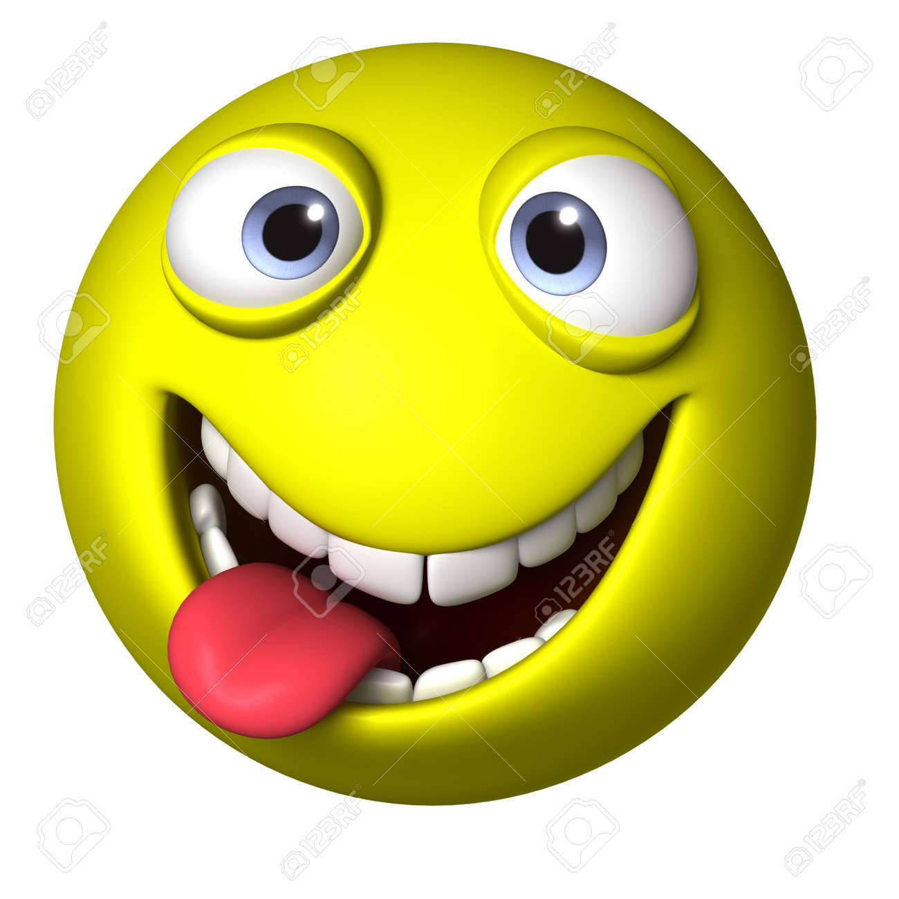 3d Cartoon Smile Face Stock Photo Picture And Royalty Free Image