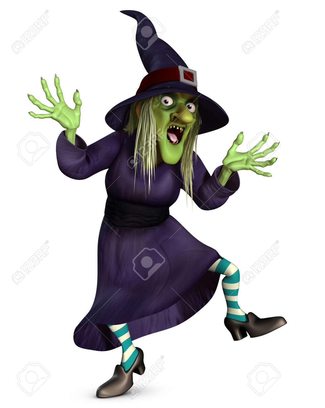 witch 3d cartoon halloween crazy witch - Halloween Witch Cartoon