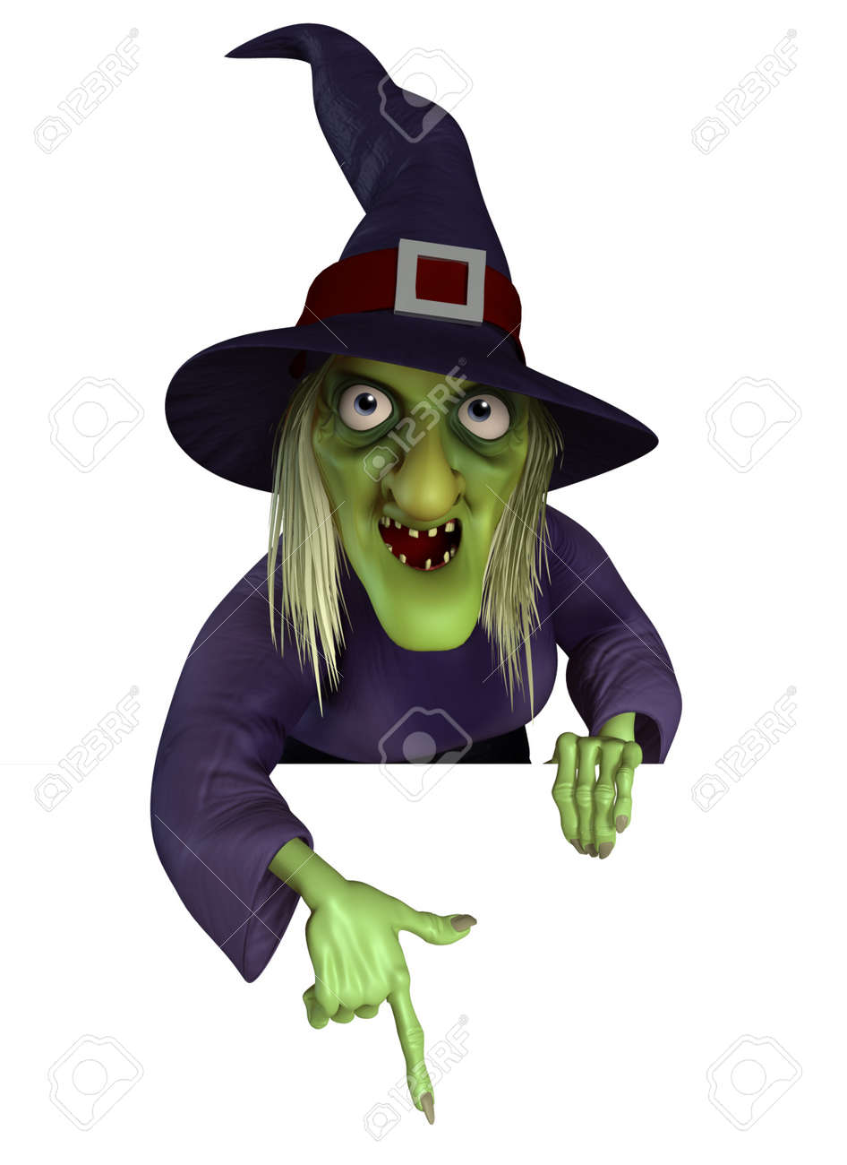 3d Cartoon Halloween Witch Stock Photo, Picture And Royalty Free ...