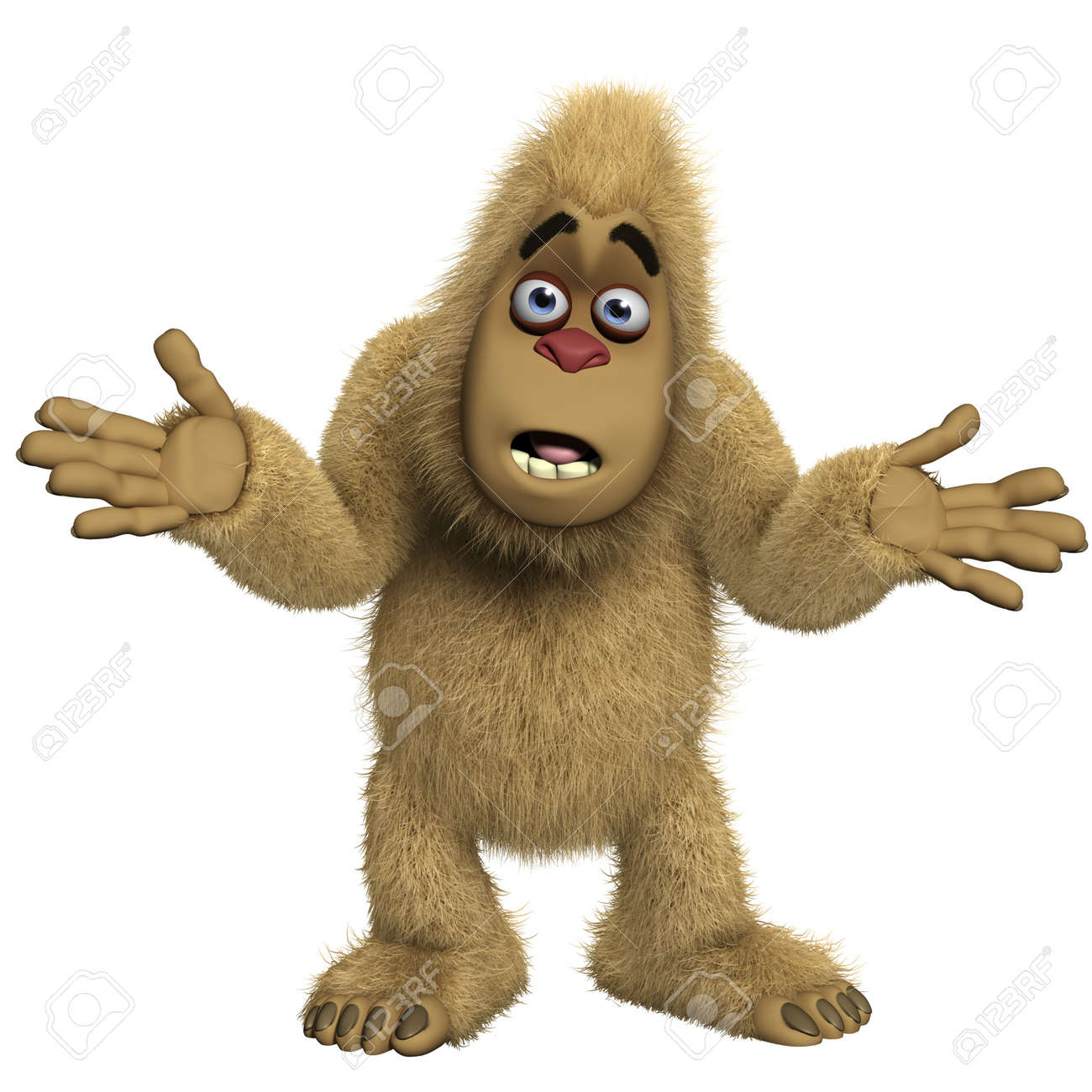 D cartoon yeti stock photo picture and royalty free image image