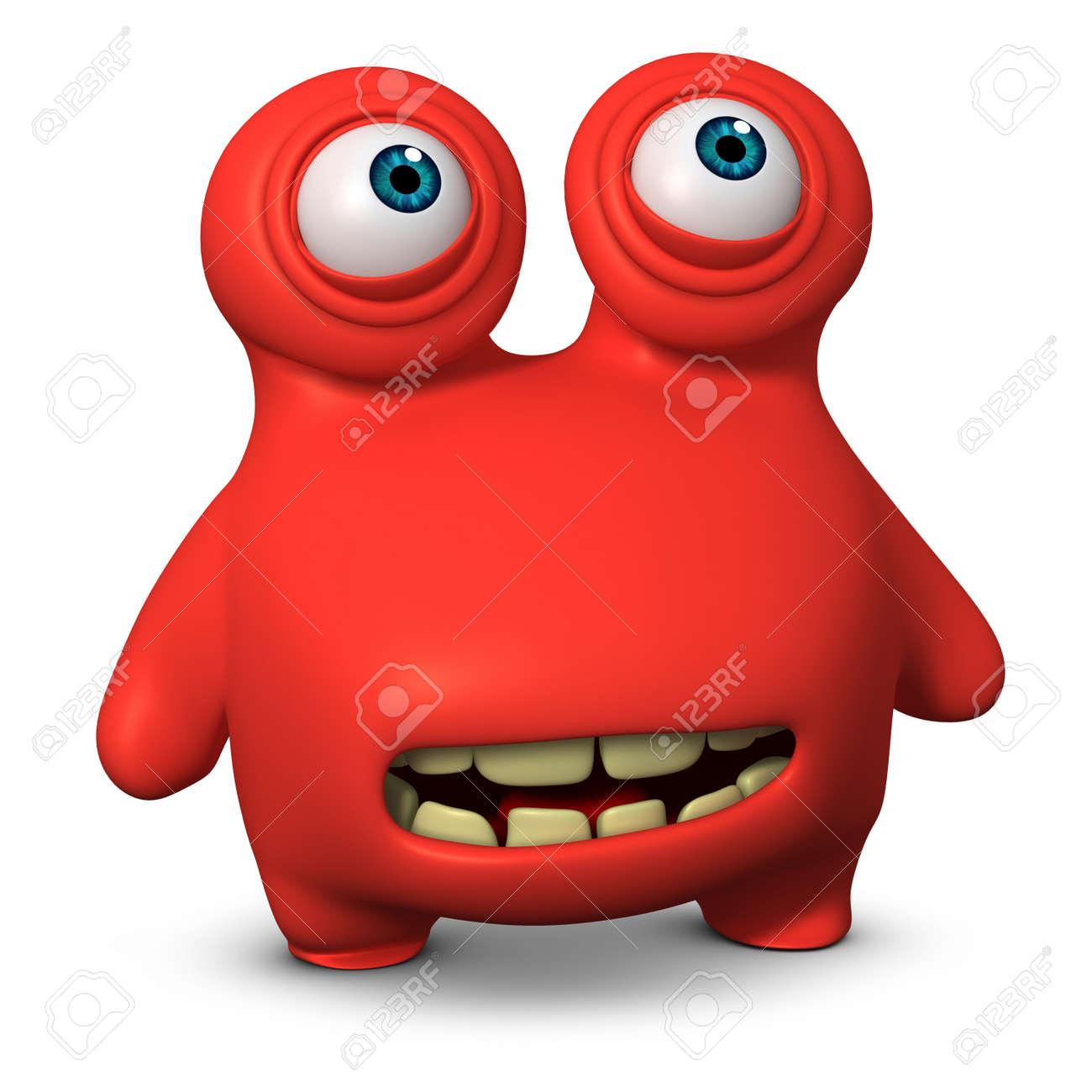3d cartoon cute monster Stock Photo - 15732012