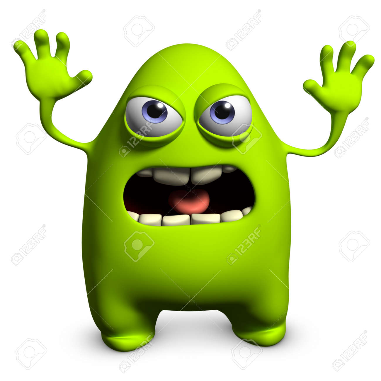 3d cartoon cute monster stock photo picture and royalty free