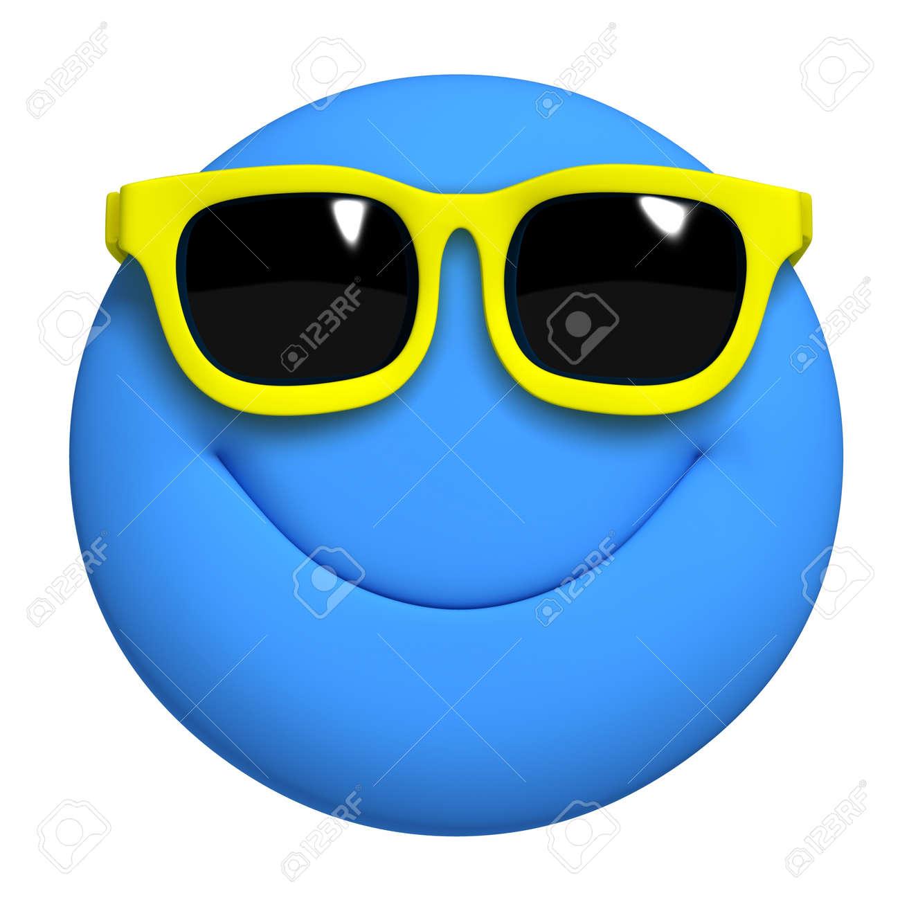 3d cartoon cute blue ball Stock Photo - 19631545
