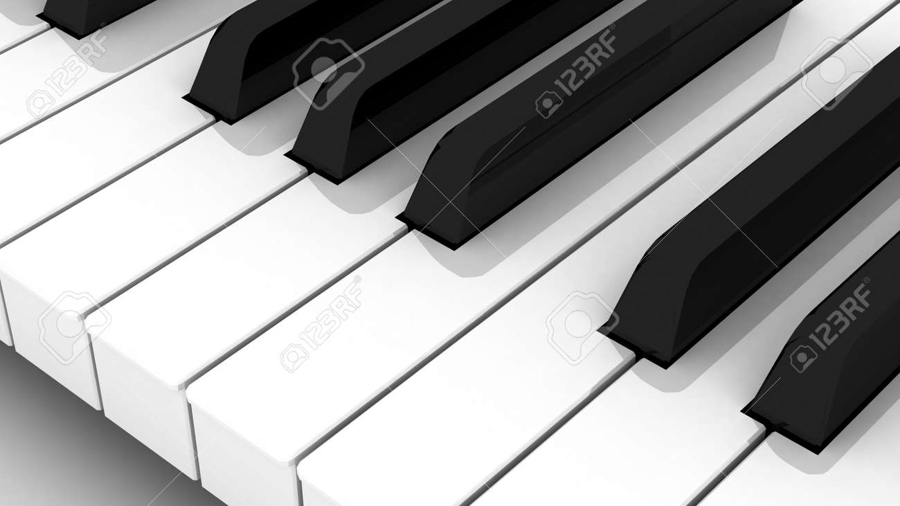 Piano keyboard  Learning piano and game concept