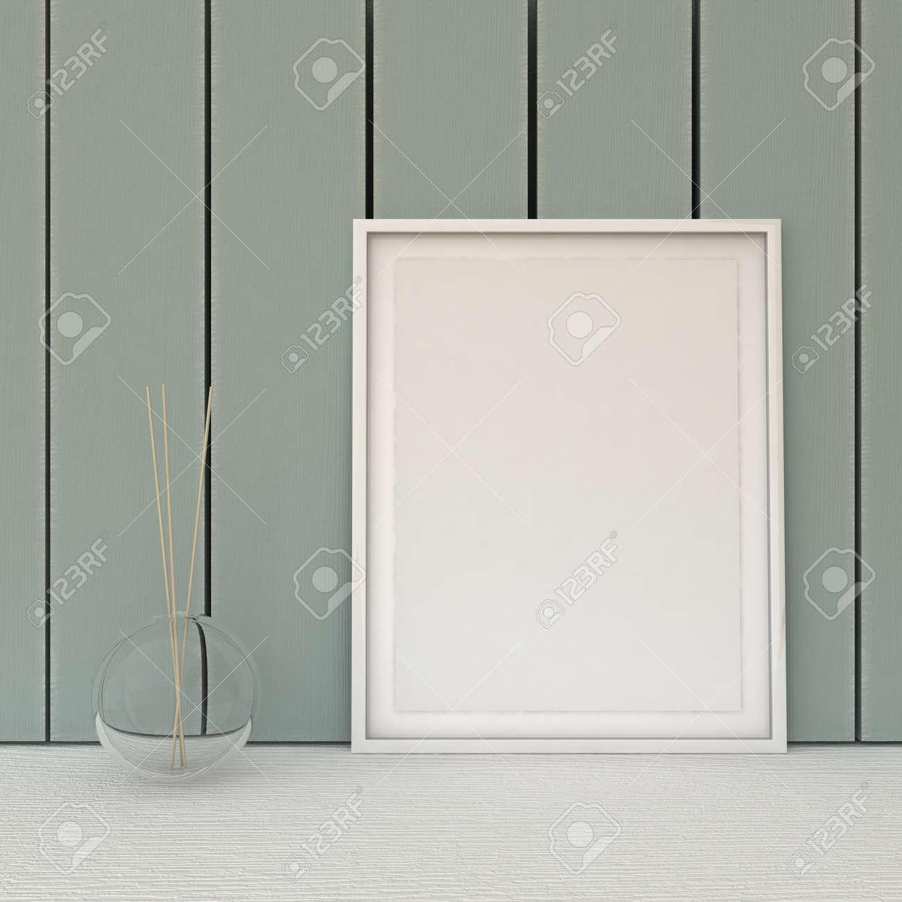 image vide dans le cadre chic minable, style vintage. décoration d