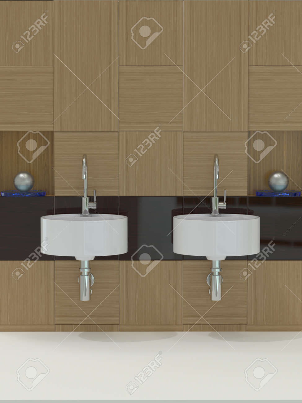 Modern bathroom, sink and faucet Stock Photo - 12584976