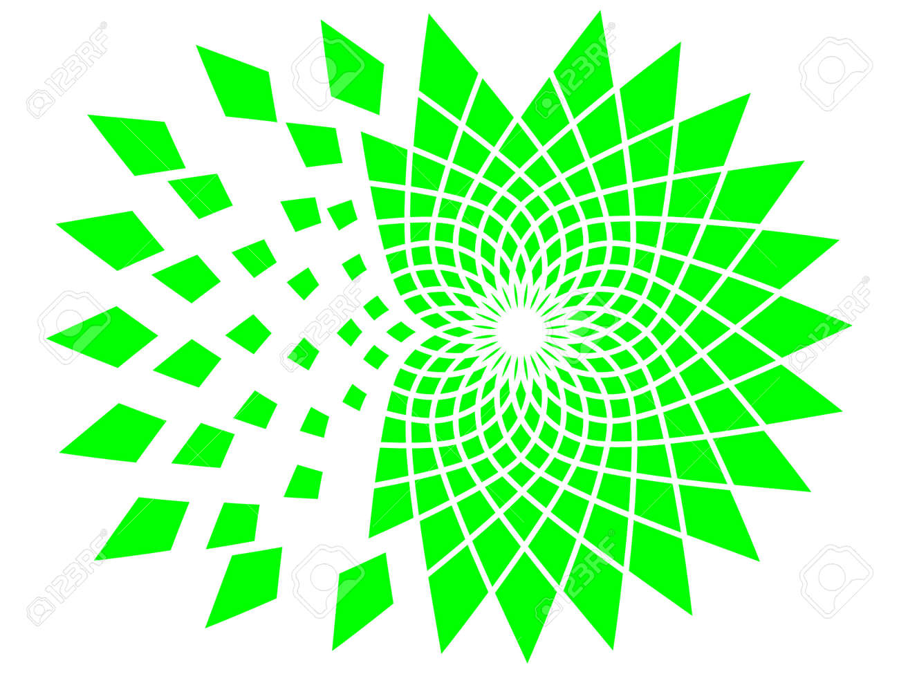 Destruction of green cute mandala. Green explosion. Stock Vector - 21926716