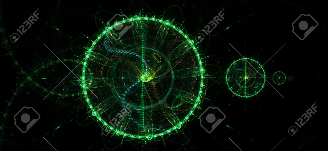 Greenish background. Abstract green circles. DNA and time Stock Photo - 22165702