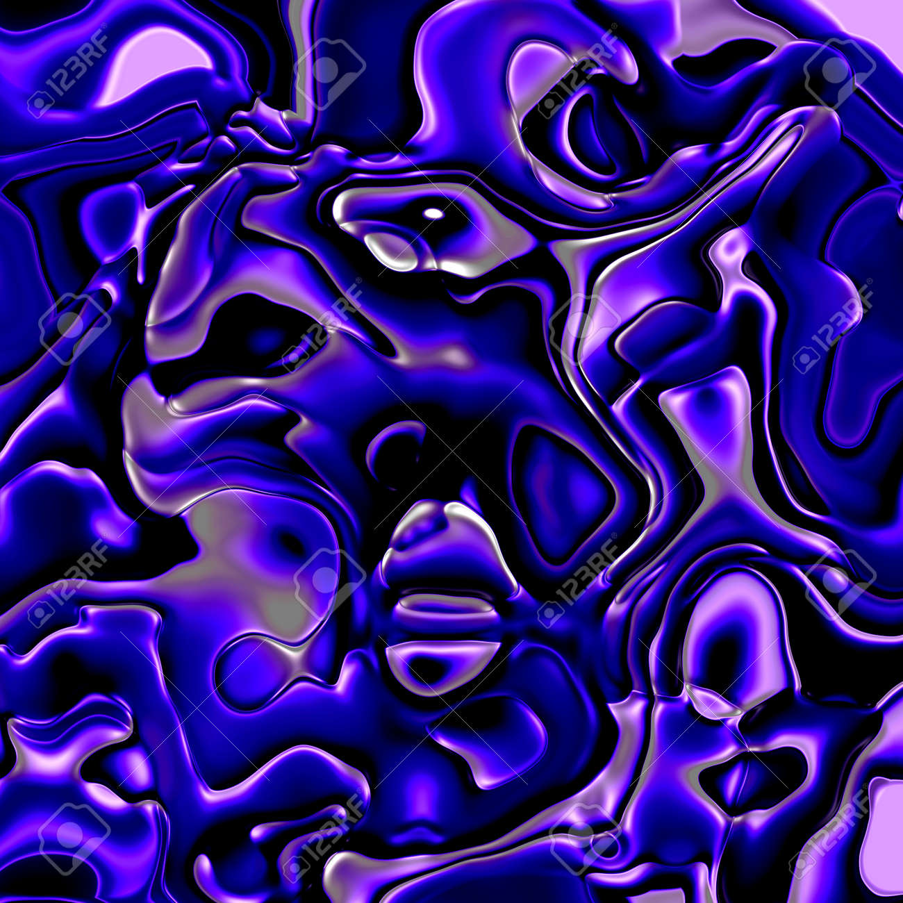 crazy abstract melted colorful shapes as wallpaper stock photo