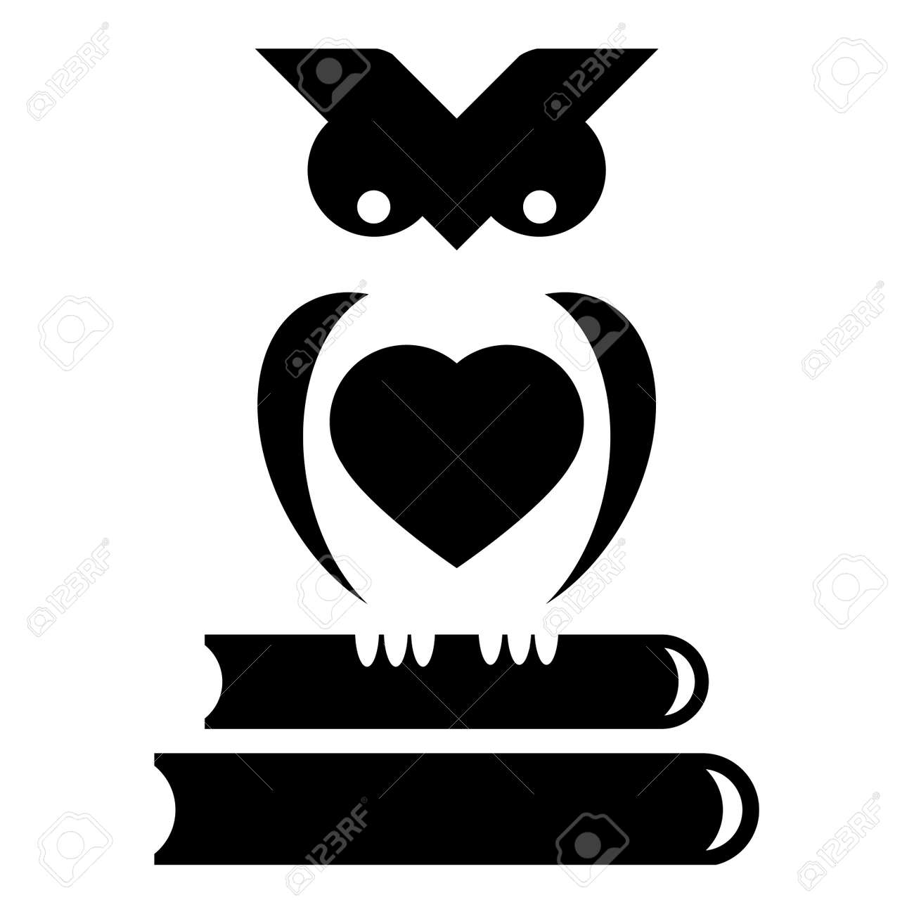 Cute little owl sits on stack of books royalty free cliparts cute little owl sits on stack of books stock vector 50925725 buycottarizona Images