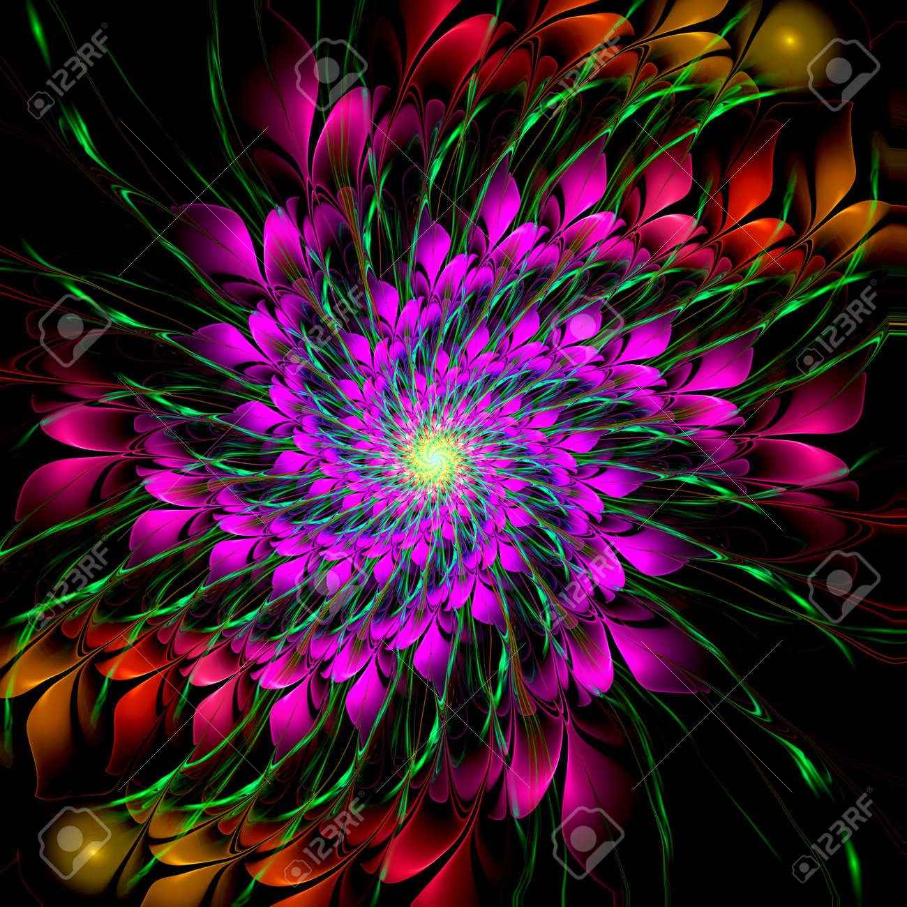 abstract crazy psychedelic background as nice wallpaper stock photo