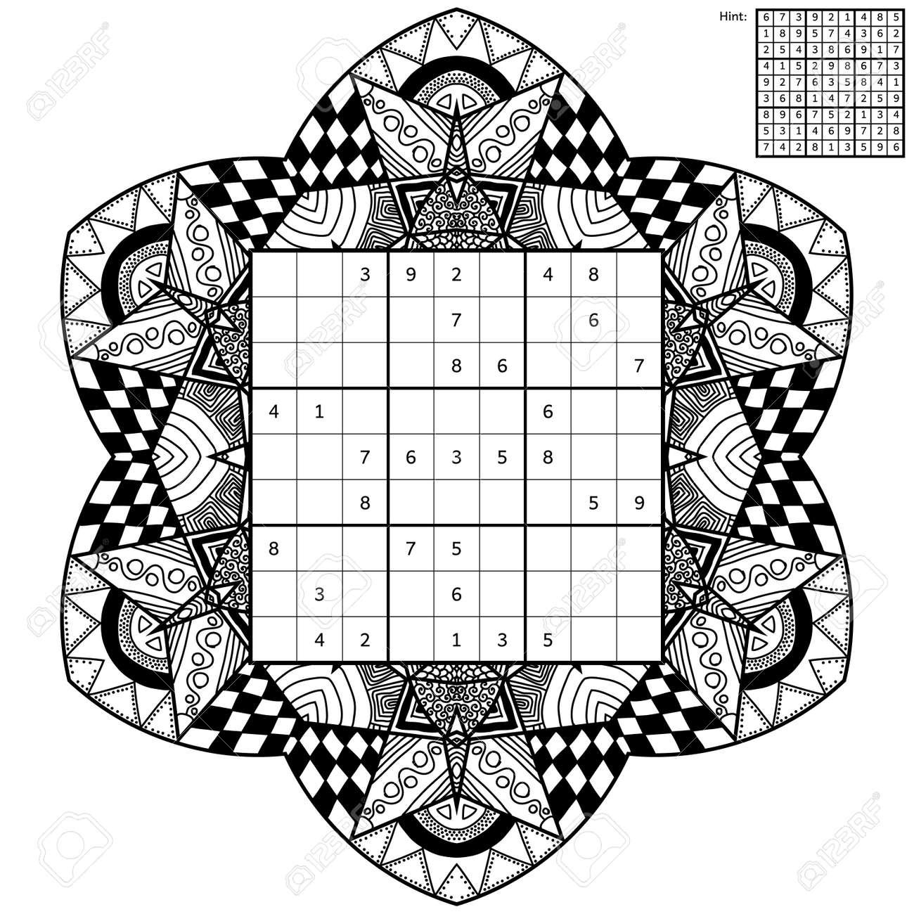 Sudoku Con La Solución Y Libro Para Colorear Antiestrés Cuadrado