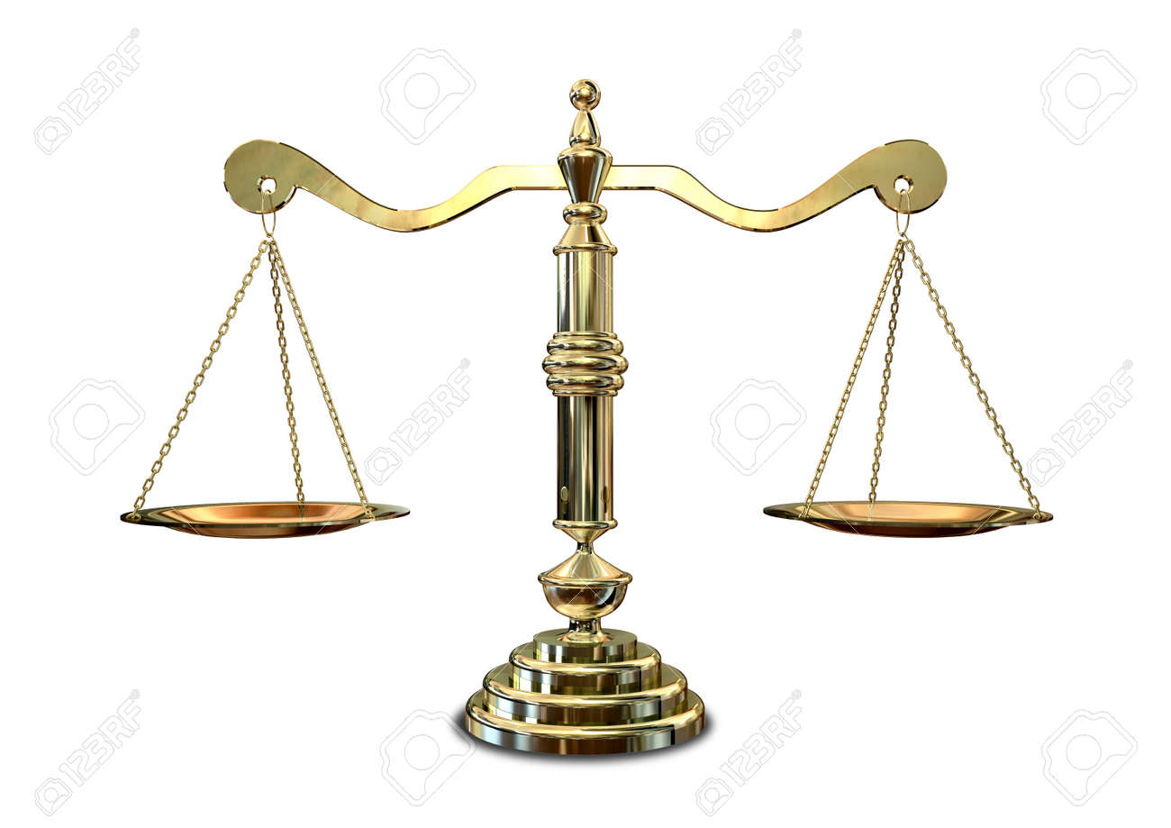 An Old School Gold Justice Scale Stock Photo, Picture And Royalty ...