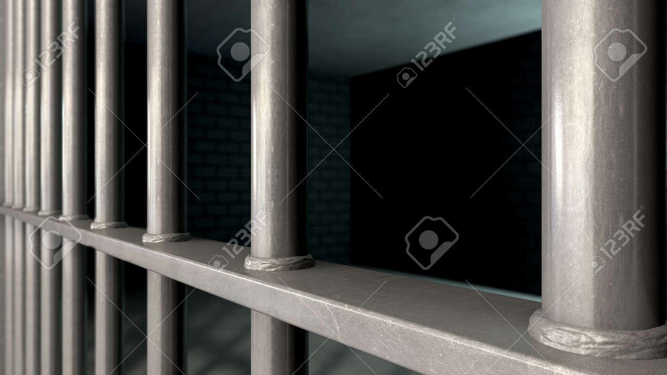 A closeup of a jail cells iron bars Stock Photo - 17236233