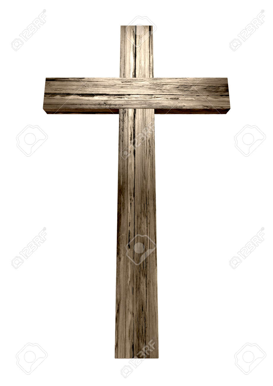 A wooden cross on an isolated background Stock Photo - 19930041