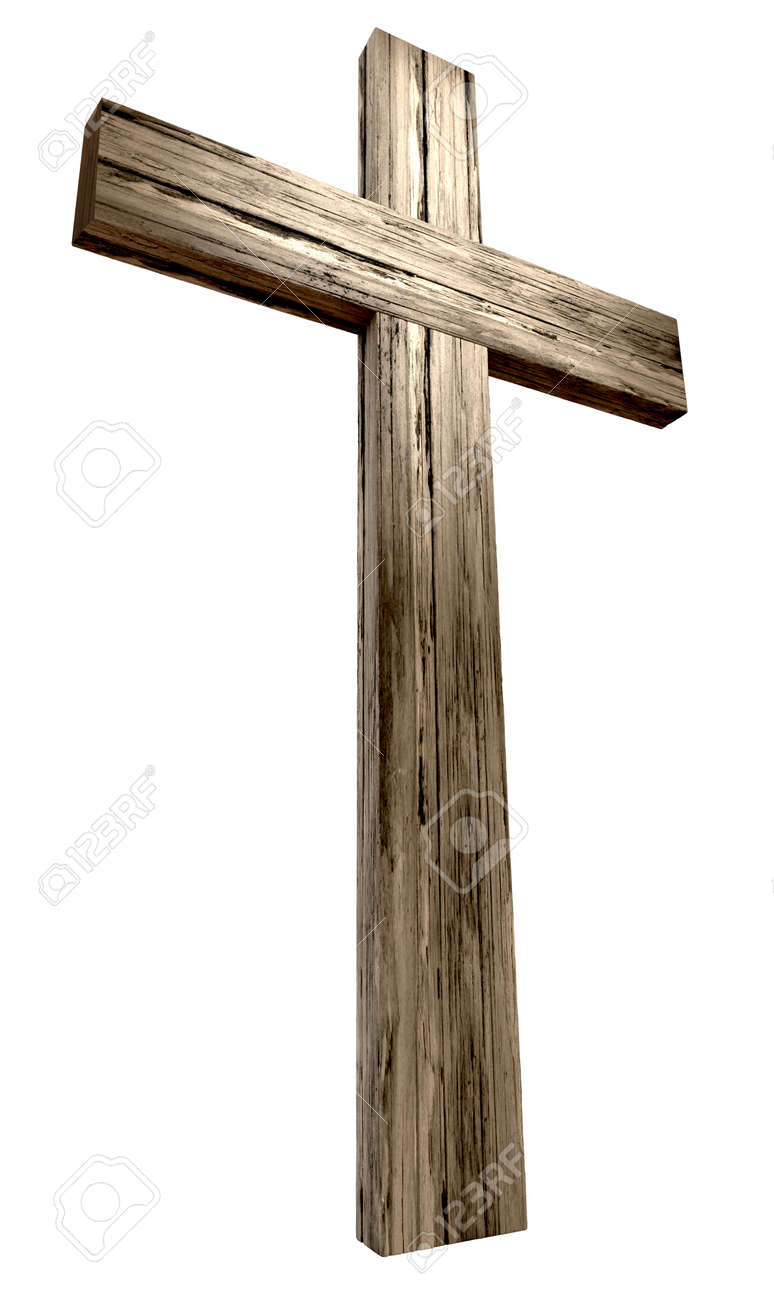 A wooden cross on an isolated background Stock Photo - 19930049