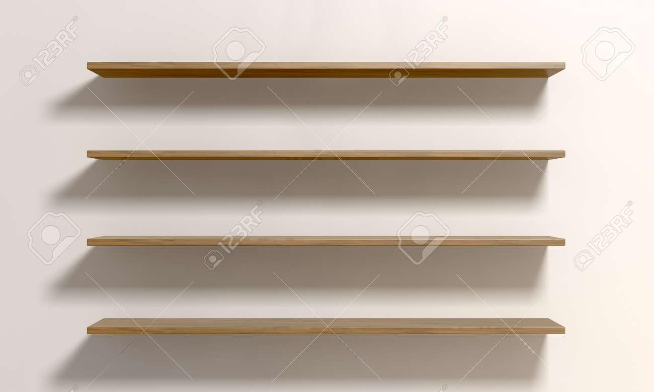 Muur Van Houten Planken.Een Vooraanzicht Van Vier Gewone Ontruimd Houten Planken Op Een