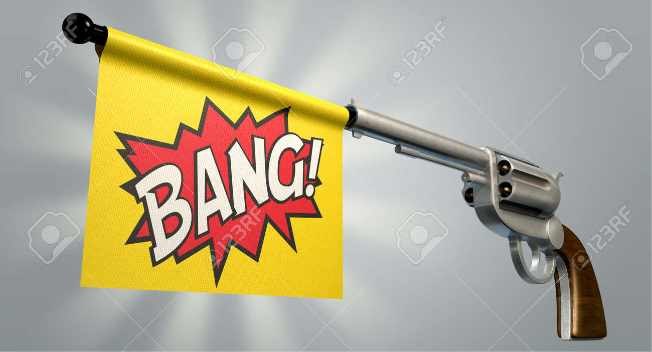 31285043-A-six-shooter-gun-with-a-flag-c