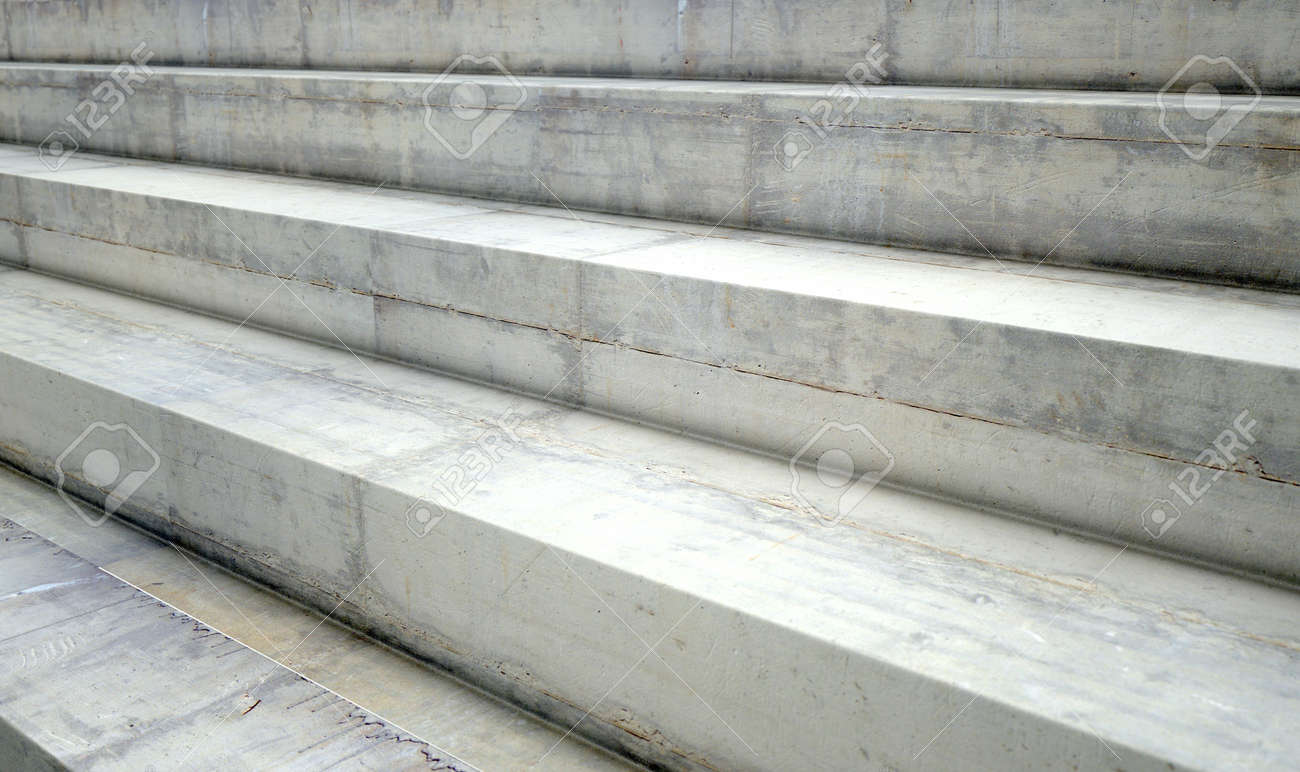 a section of empty concrete steps used for stadium seating stock photo