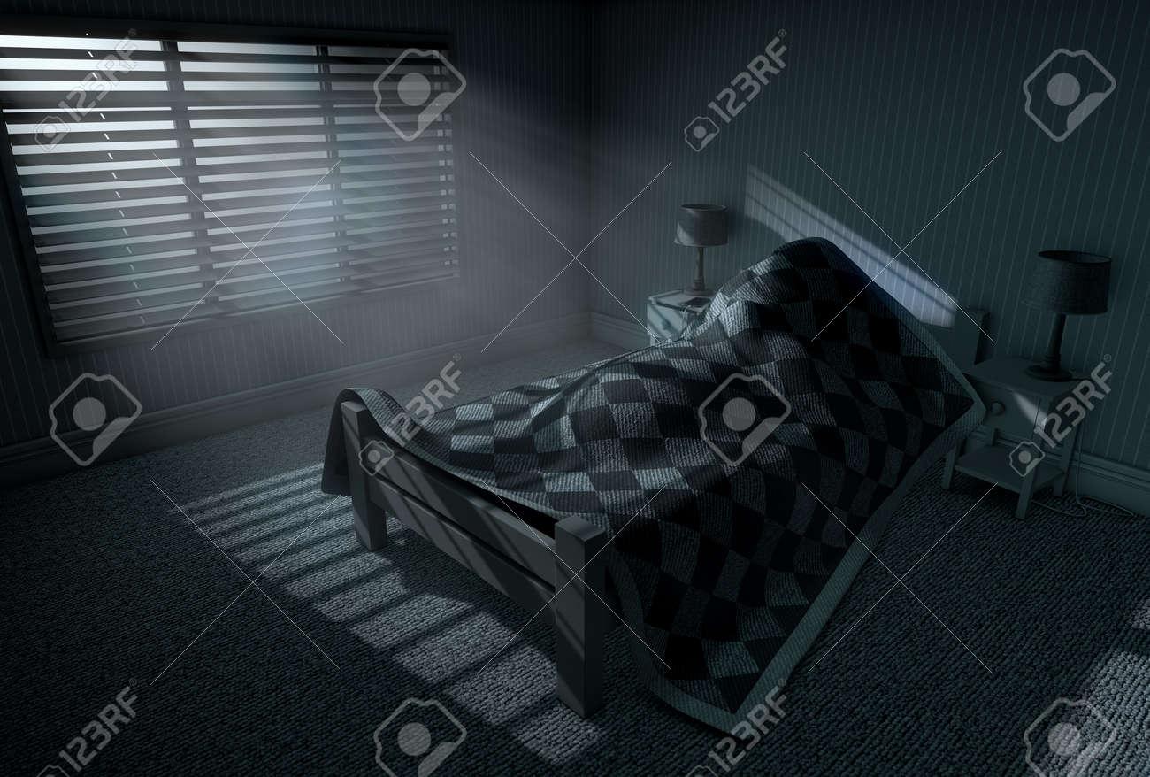 Una Representación 3D De Una Persona Que Duerme Bajo Las
