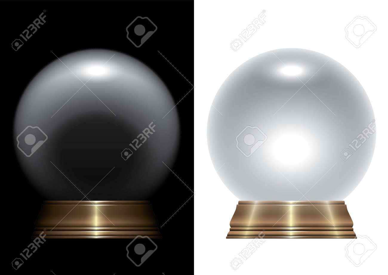 A vector illustration of a regular crystal ball on an isolated studio background - 143993735