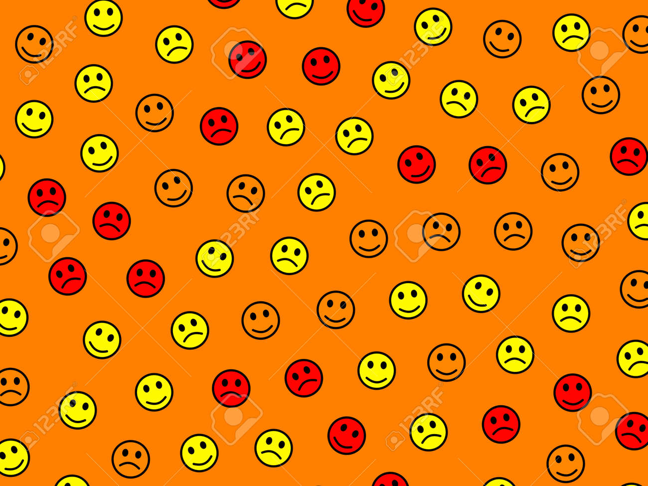 Chat decoration  High definition pattern  Group including multiple smileys