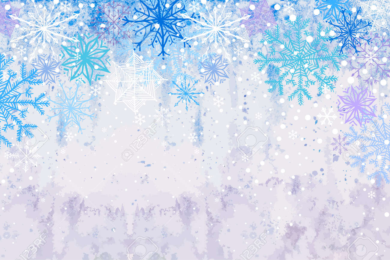 Winter vector blue celebration or invitation card with falling vector winter vector blue celebration or invitation card with falling snowflakes on the frost background stopboris Choice Image