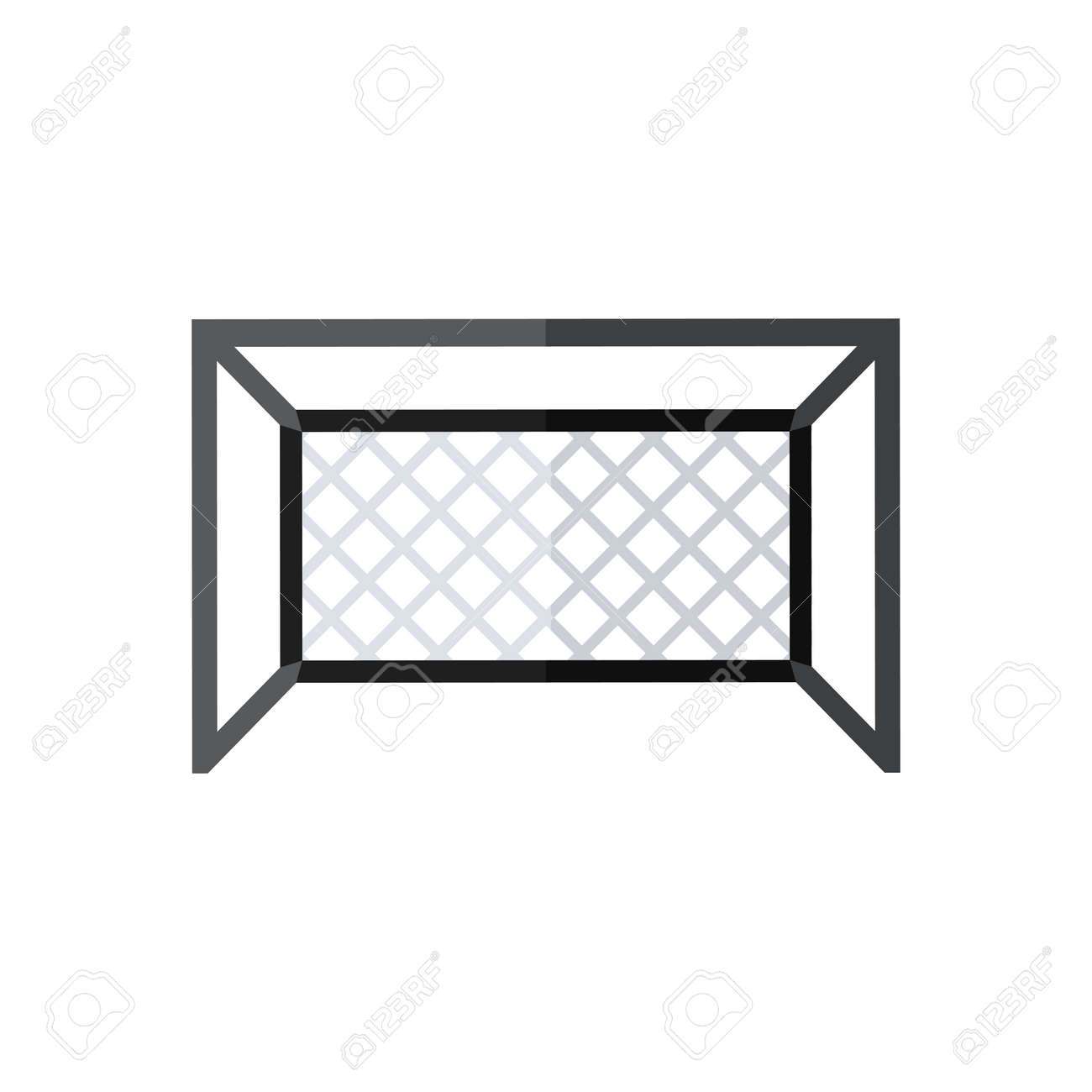 football goal silhouette vector soccer goal icon in flat style