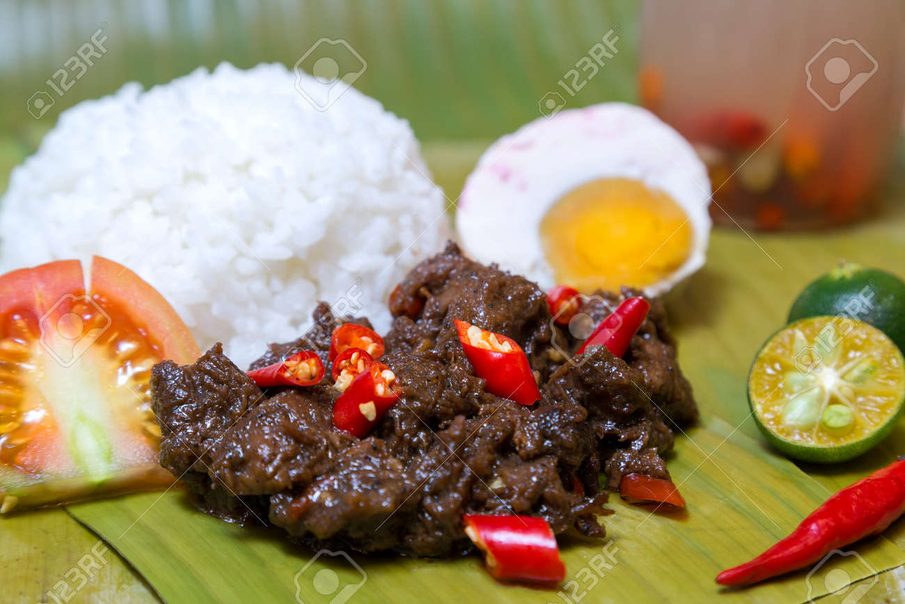 Filipino traditional authentic dish: philippine spicy beaf tapa