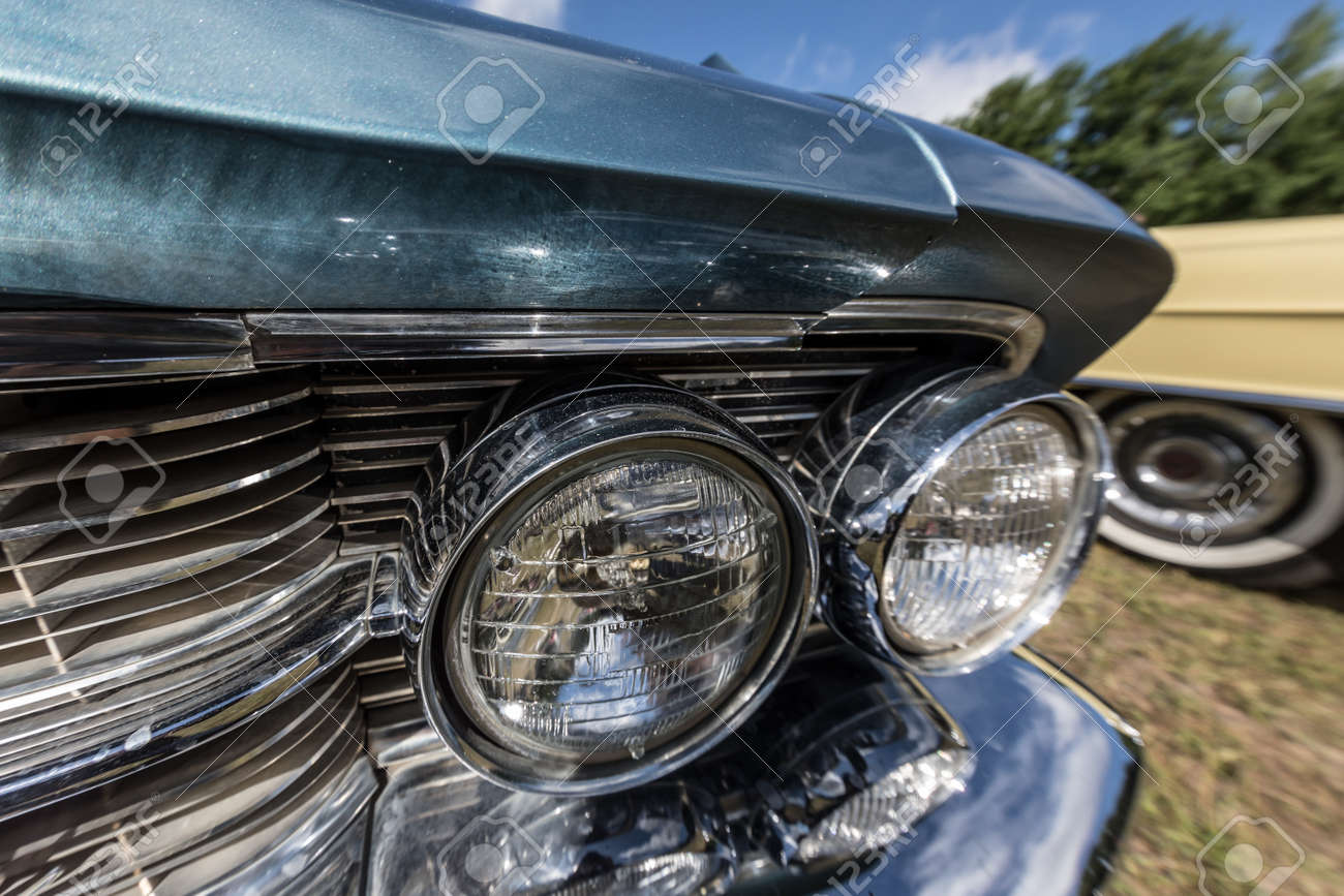 Old School Car Headlight Stock Photo, Picture And Royalty Free ...