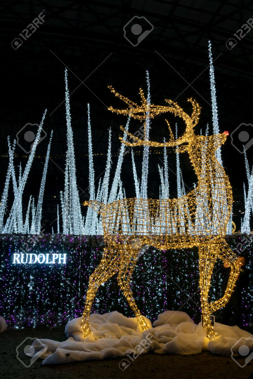 Enchant Christmas Seattle.Seattle Washington 2018 12 09 Rudolph The Reindeer Created