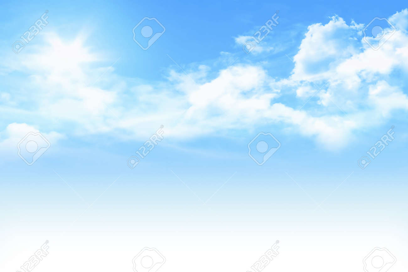 Light Blue Sky With White Gradient Stock Photo Picture And