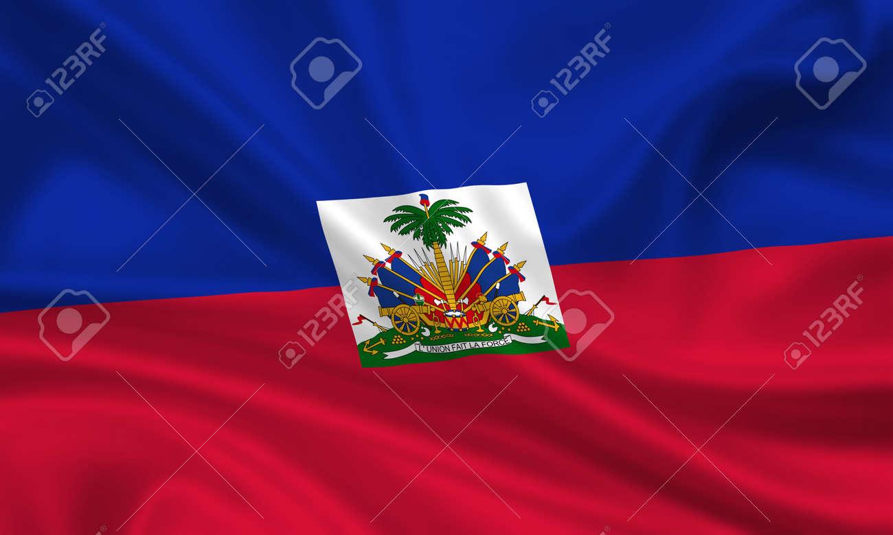 waving flag of haiti Stock Photo - 15251061