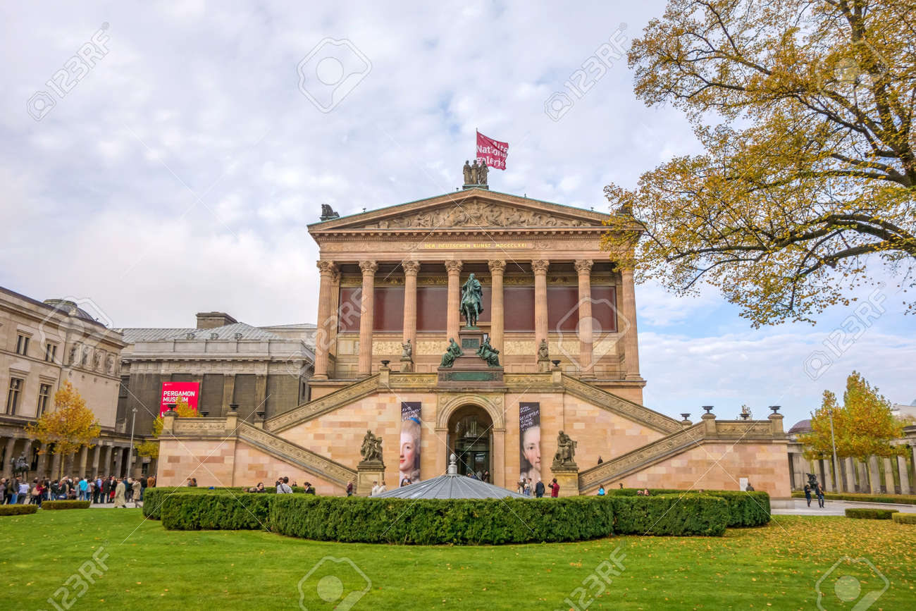 Berlin Germany October 26 2013 Exterior View Of Alte Nationalgalerie Stock Photo Picture And Royalty Free Image Image 46586446