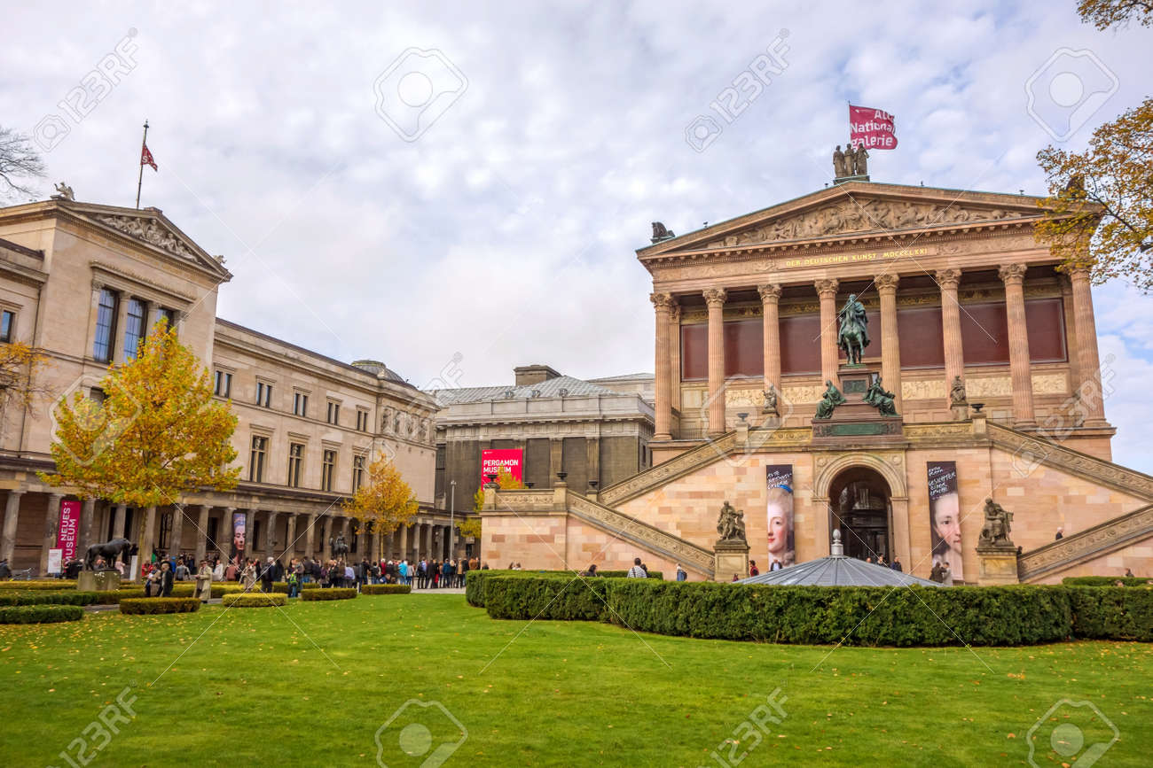 Berlin Germany October 26 2013 Exterior View Of Alte Nationalgalerie Stock Photo Picture And Royalty Free Image Image 46586447