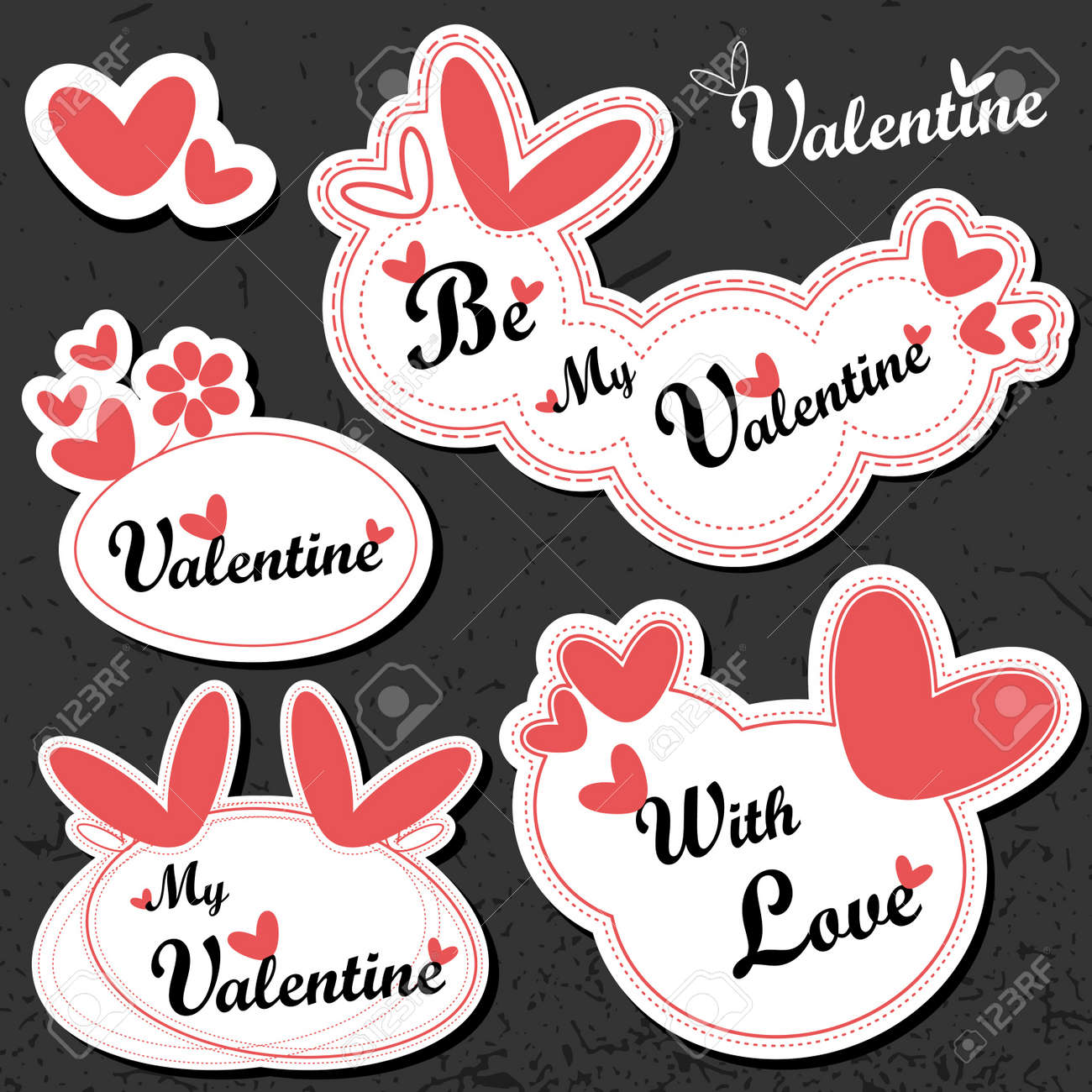 Valentine`s Day card Stock Vector - 11937042