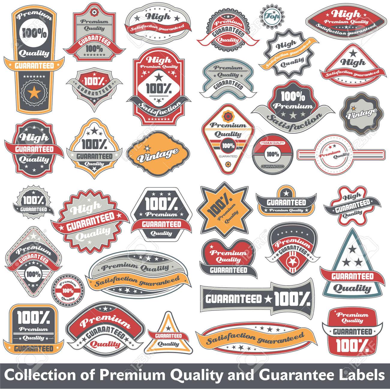 De alta calidad y la colección de sello de garantía Foto de archivo - 12344883