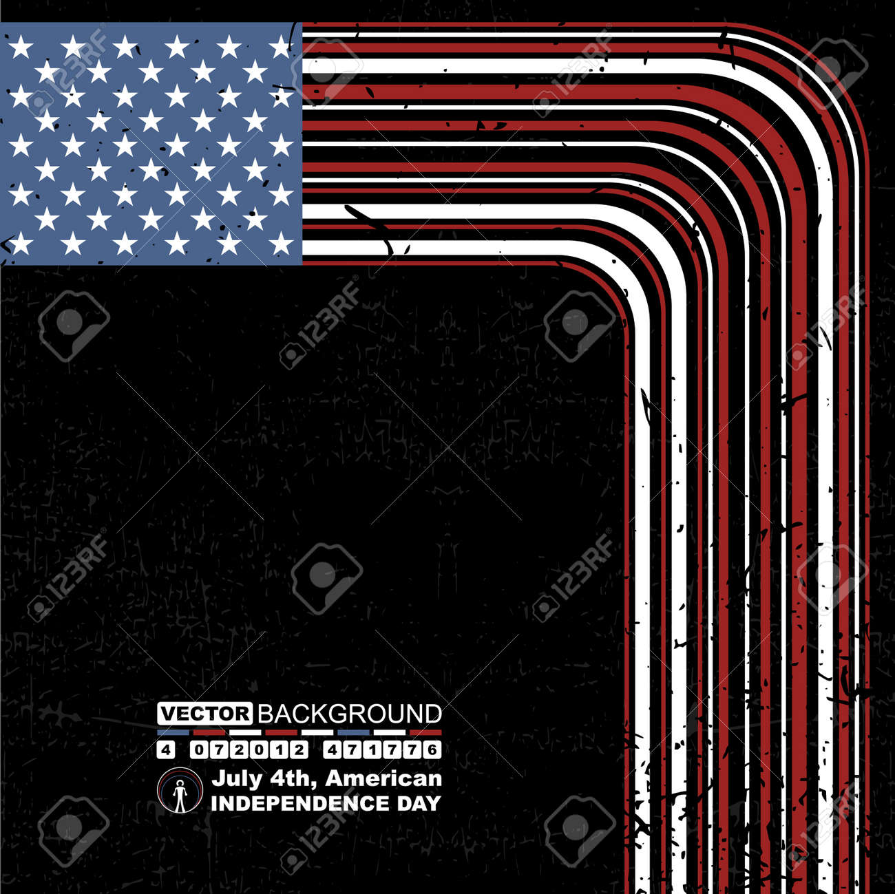 Independence Day- 4 of July Stock Vector - 12772609