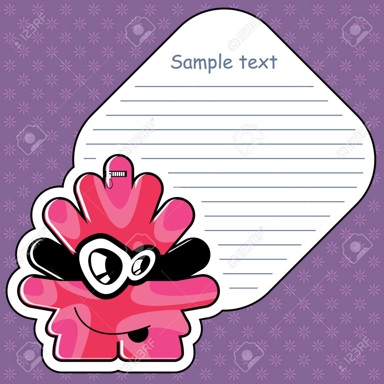 Cartoon monster with message cloud Stock Vector - 13466876