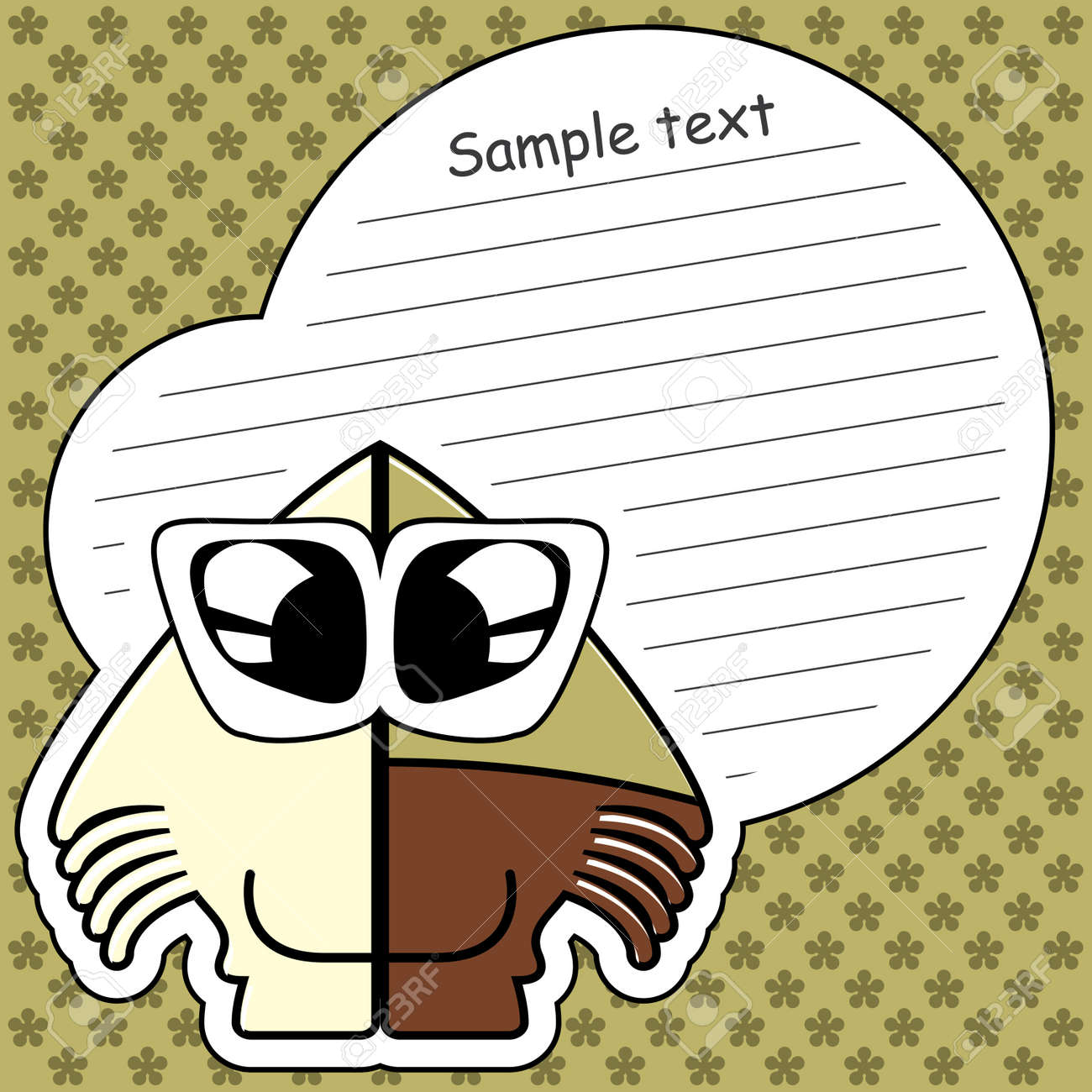 Cartoon monster with message cloud Stock Vector - 13762132