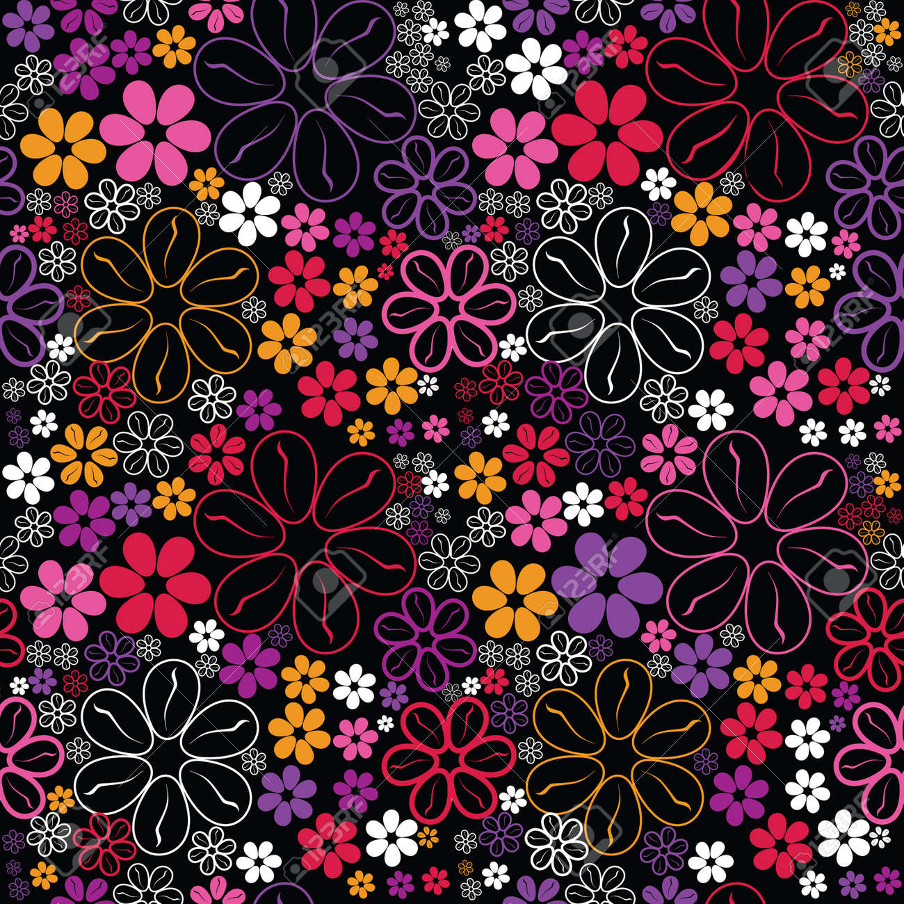 Flowers - seamless pattern Stock Vector - 13801049