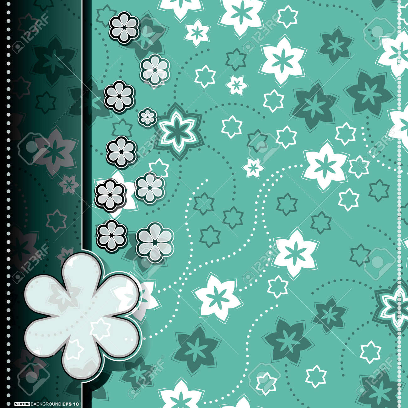 Floral card Stock Vector - 14472031