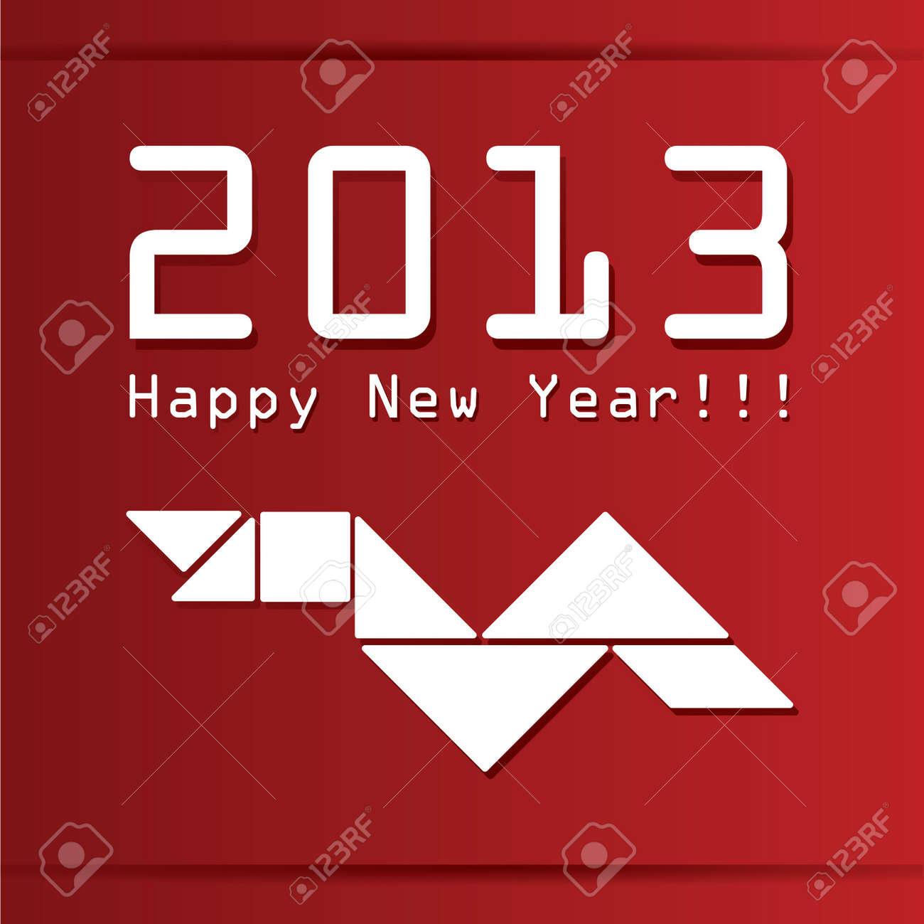 New year card with snake Stock Vector - 14544583