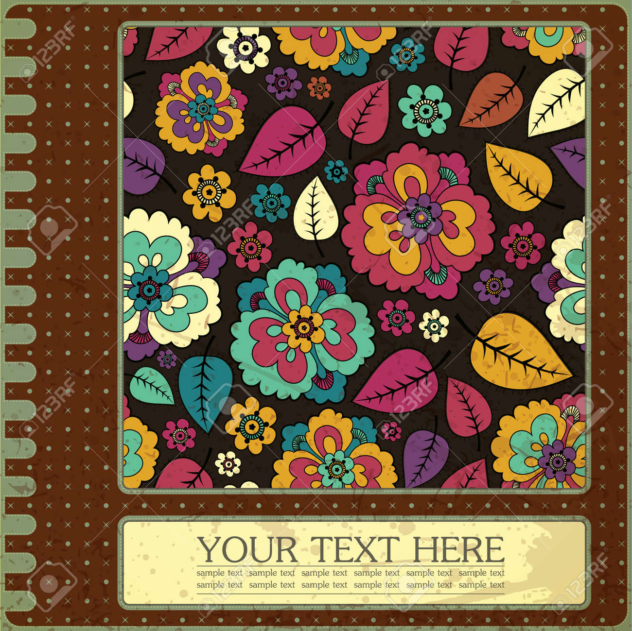 Floral card Stock Vector - 15161461